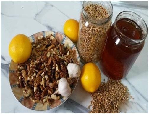 chanh, tỏi, mật ong, óc chó, hạt mầm