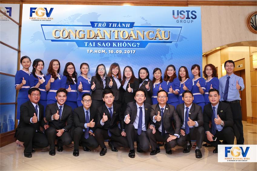 Đội ngũ nhân viên tại First Global Visa