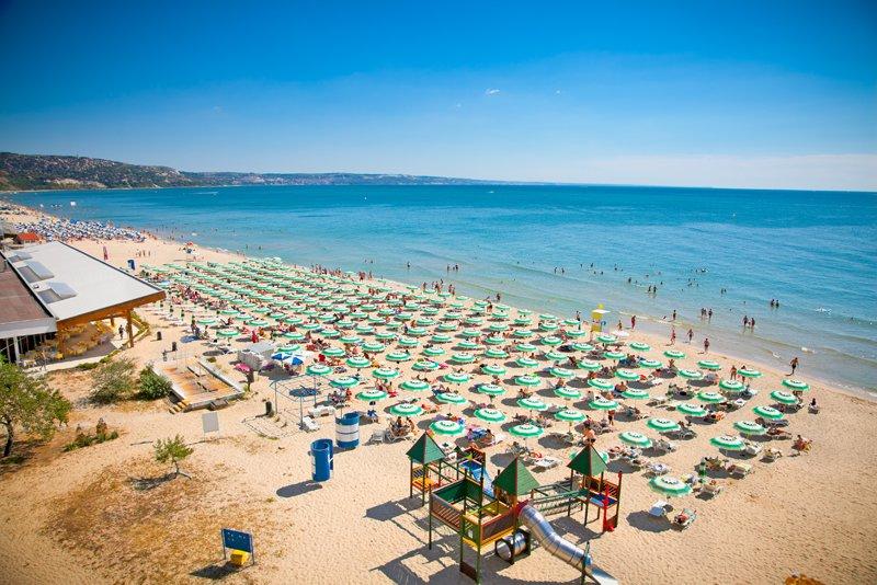 Vẻ đẹp của bãi biển ở Bulgaria