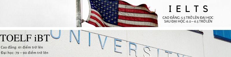 Điều kiện tiếng Anh để học ở Mỹ.