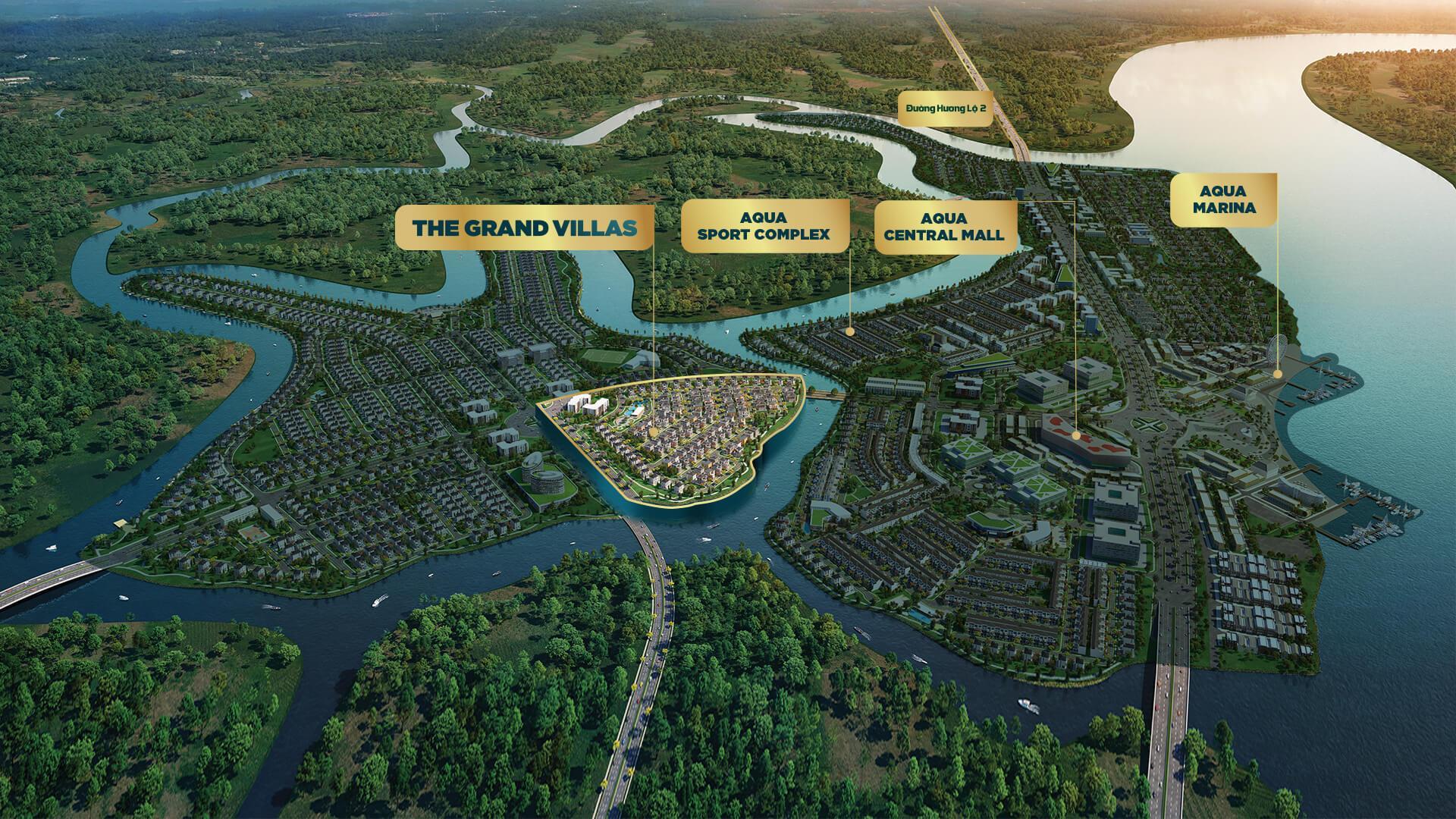 vị trí dự án the grand villas