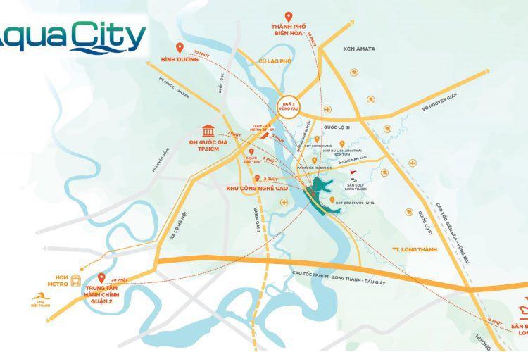 Vị trí của khu đô thị Aqua city